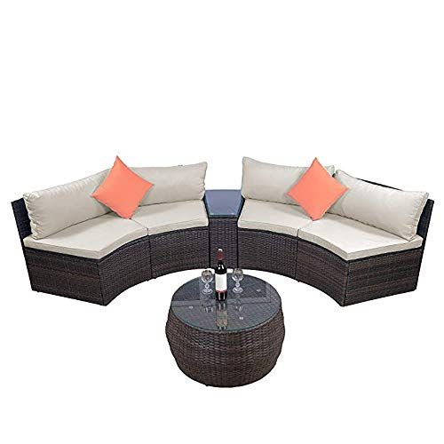 See Fgong Casual And Simple 6 Piece Patio Furniture Sofa Combi