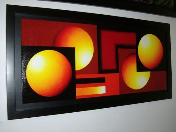 Cuadros con figuras geometricas buscar con google - Pinturas para el hogar ...