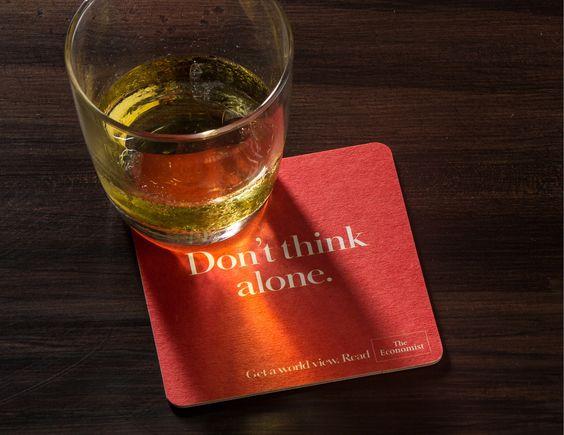 Don't Think Alone coaster design