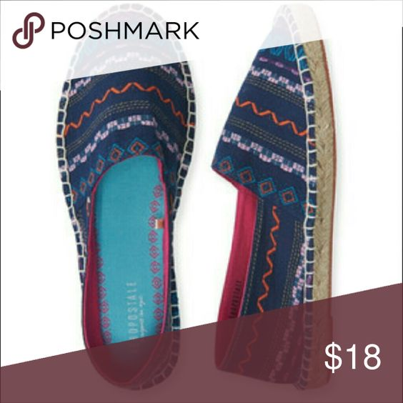 Aeropostale navy blue pink espadrilles size 8 New New! Aeropostale Espadrilles.  Size 8 Aeropostale Shoes Espadrilles
