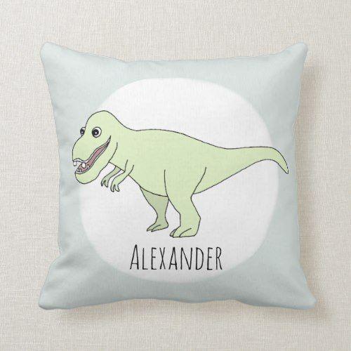 A cute dinosaur pillow a T Rex to be