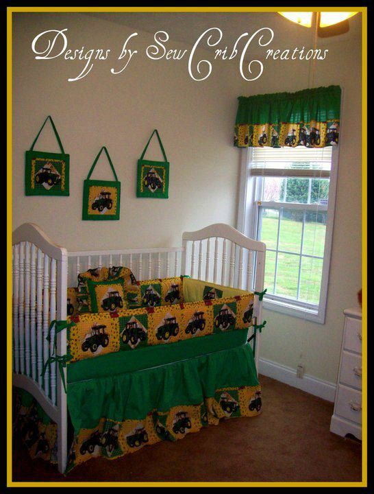 Tractor Mobile For Cribs : Heartland john deere crib bedding set by sewcribcreations