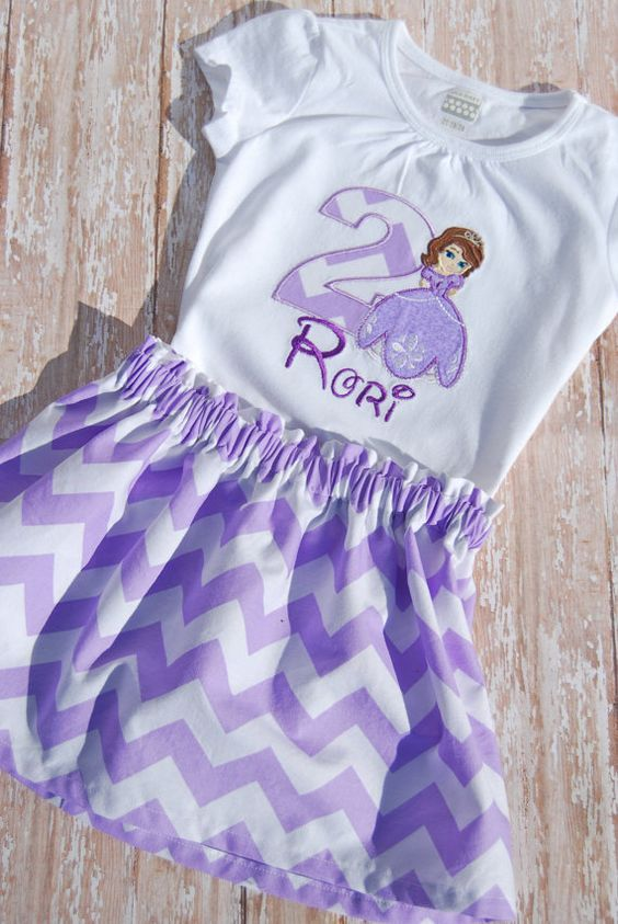 Sofia the First inspired birthday outfit by CreatingCelebrations, $36.00