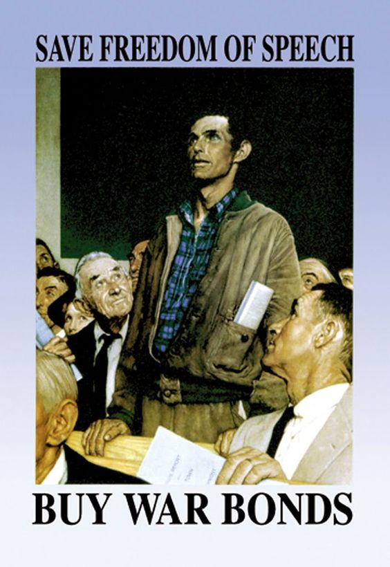 norman rockwells freedom of speech Norman rockwell freedom of speech, freedom of worship, freedom from fear, freedom from want, 1943 war bond poster us office of.