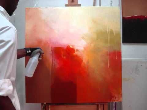 Abstract Acrylic Painting Demo Abstrakte Malerei Wish I Could