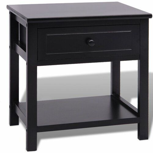 Mercury Row Gammage 1 Drawer Bedside Table In 2020 Wooden