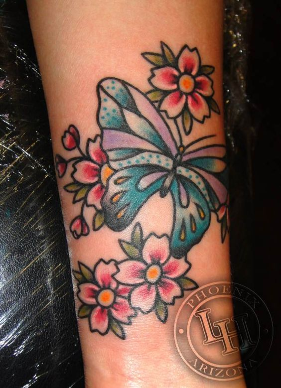 Meg mcniel love and hate tattoo butterflies n such for Love n hate tattoo
