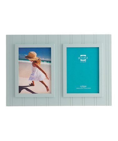Another great find on #zulily! Aqua South Bay Beadboard Two-Photo Frame #zulilyfinds