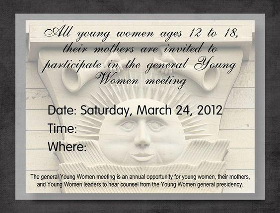 2012 YW General Broadcast invite - Printable