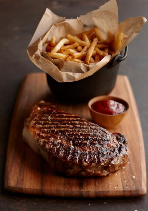 You are what you eat- right? I always have steak and chips so here I am.
