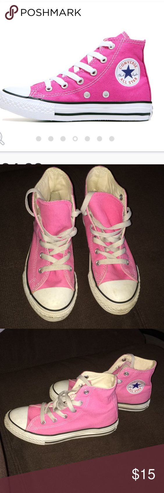 Hot pink converse all stars! Excellent used condition! Converse Shoes Sneakers