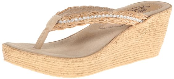 Sbicca Women's Ceviche Wedge Sandal,Natural,9 B US. Double padded insole.