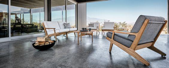 Con un hermoso brillo pulido o un acabado suave y natural, cada pieza de la firma Gloster se crea a partir de plantaciones de madera de teca cuidadosamente seleccionadas y controladas.