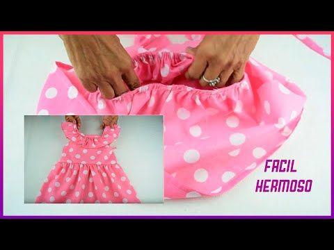 Espectacular Como Realizar Vestidos Para Niñas Fácil Con Tela De Lunares Youtube Vestidos Navideños Para Niña Vestidos Para Niñas Tutoriales De Costura