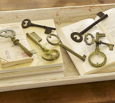 Vintage Keys, Set of 7 #potterybarn