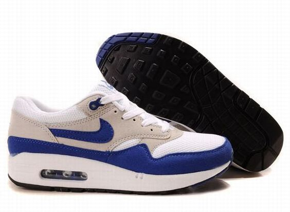 Nike Air Max 87 Men\u0026#39;s White Mesh Dark Blue Light Brown Only $73.99