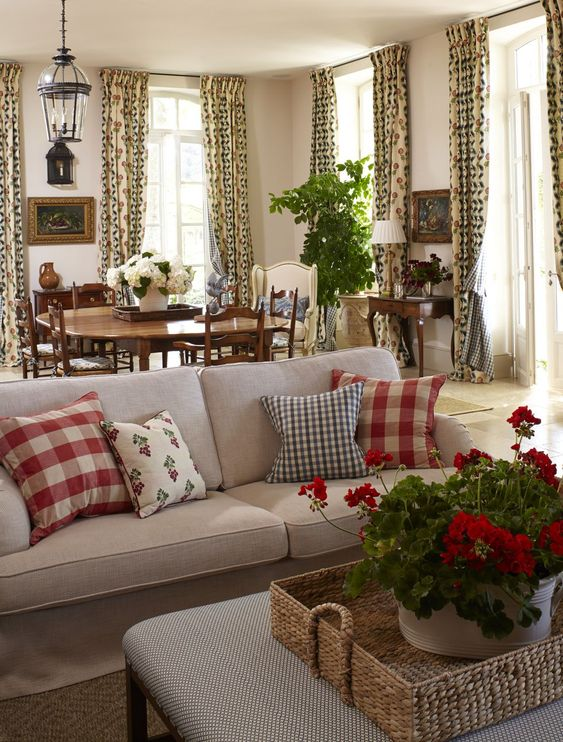 Lots of beautiful spaces on this post! Full of checks and lovely collected pieces.