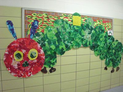 Cap d 39 agde caterpillar and new class on pinterest for Eric carle mural
