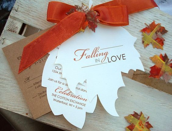 Friday's Fab Finds: Unique Save the Dates | Wedding, Autumn leaves ...