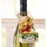 Goldhase im Flaschenhänger, 50g, Schokolade Katalogbild