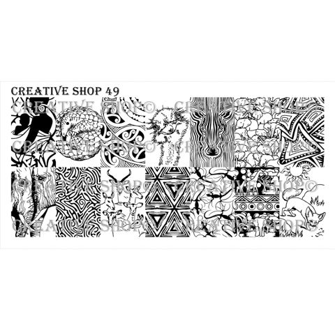 Creative Shop- Stamping Plate- 49