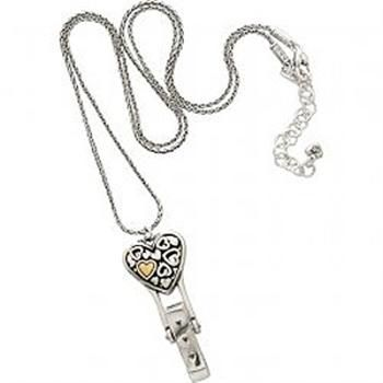 Brighton   Badge Clip Floating Hearts Necklace #VonMaur #Brighton #Necklace #Hearts