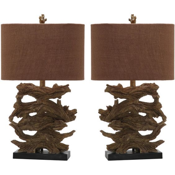 Set of Two Forester Table Lamps in Brown design by Safavieh ($172) ❤ liked on Polyvore featuring home, lighting, table lamps, lamps, brown table lamps, set of 2 table lamps, safavieh table lamps, set of two table lamps and transitional table lamps