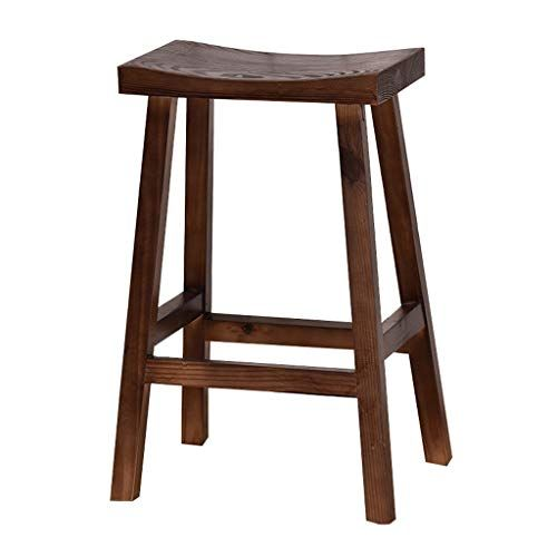 Barstool Wooden Breakfast Dining Stool For Kitchen Bar Counter Home Commercial Chair High Stool Loft Con Dining Stools Home Bar Furniture Kitchen Bar Counter
