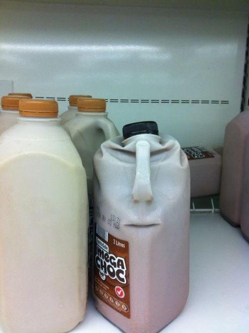 Chocolate milk man is not pleased. Not pleased at all.
