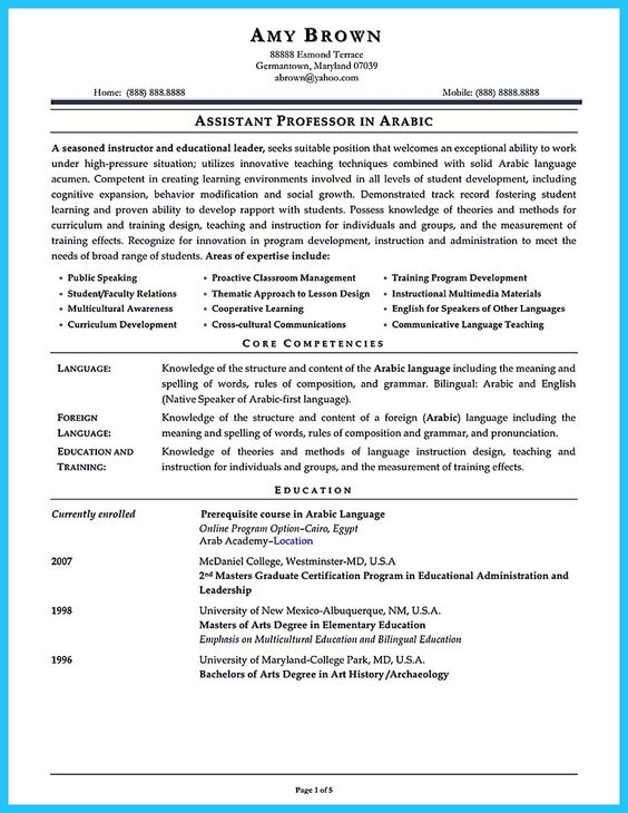 arabic teacher resumes - Josemulinohouse - beginning teacher resume
