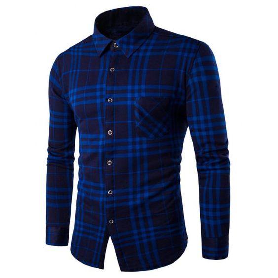 Fleece Lined Long Sleeve Checked Shirt
