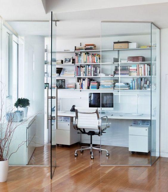 Home-Office Bücherregale-Abstellfläche Raumtrennelement Drehtüren-Wand