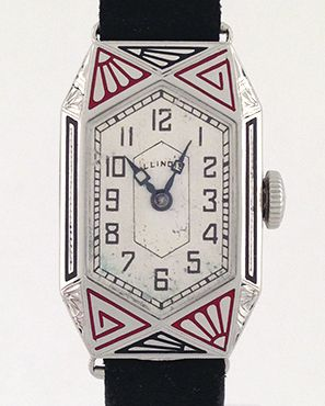 Amazing Vintage Illinois Art Deco Enameled Watch (Retroworx Collection)