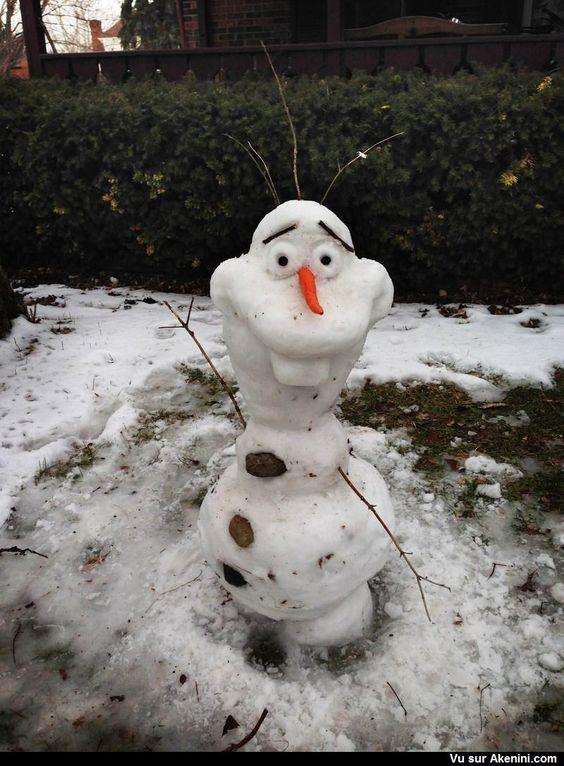 Olaf snow sculpture #snowSculpture #snow #winter #sculpture #cartoon