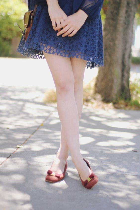vestidinho e sapatilha
