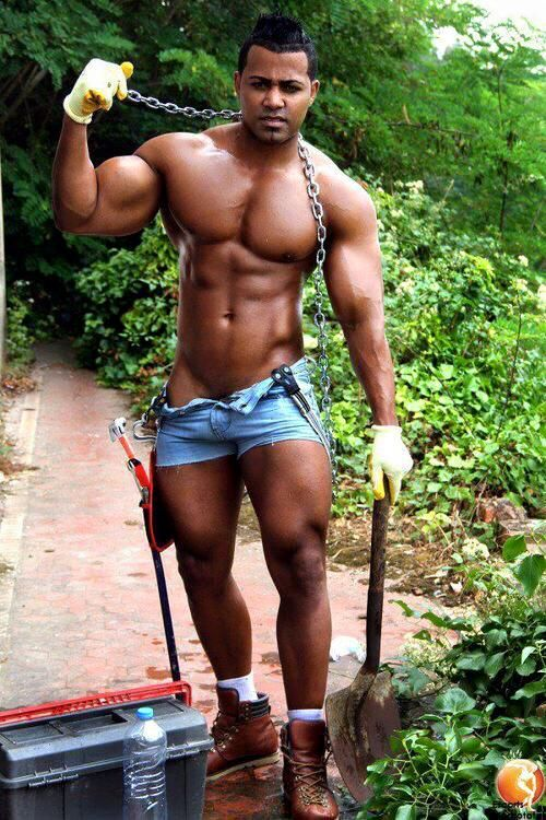 Black Muscle Bodybuilder Devon Ford