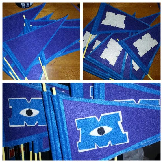 Monsters University flags