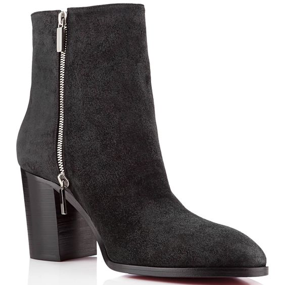 Aoussam mens flat boot crosta black leather from Christian Louboutin