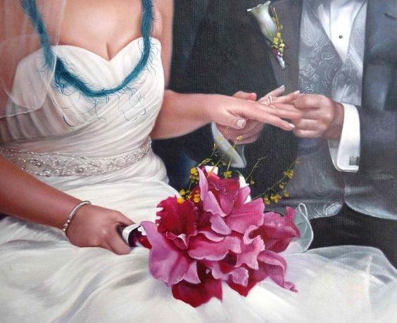 I didn't have a great experience with the first painting I had.... #wedding…