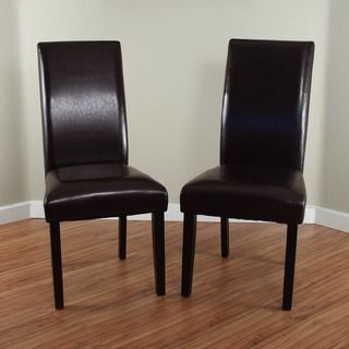 Villa Faux Leather Black Dining Chairs (Set of 2) - 13676209 - Overstock.com Shopping - Great Deals on Monsoon Dining Chairs