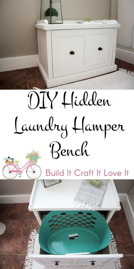 Cute Bench With Hidden Laundry Basket Free Plans