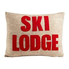 Weekend Getaway Ski Lodge Lumbar Pillow