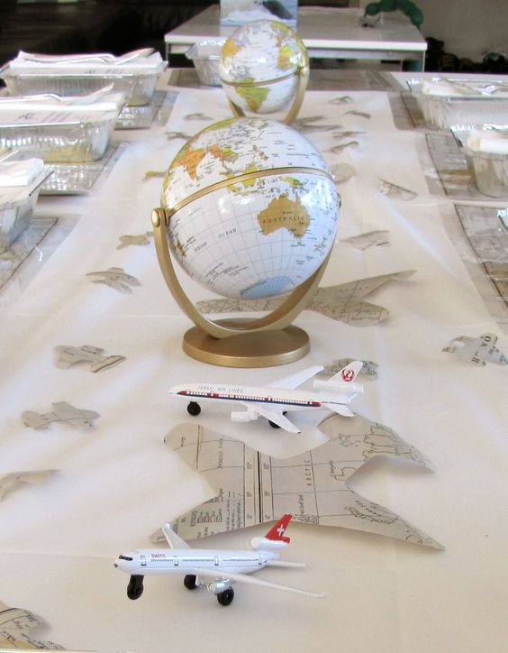 Beautiful vintage airplane party. See her cute game ideas.