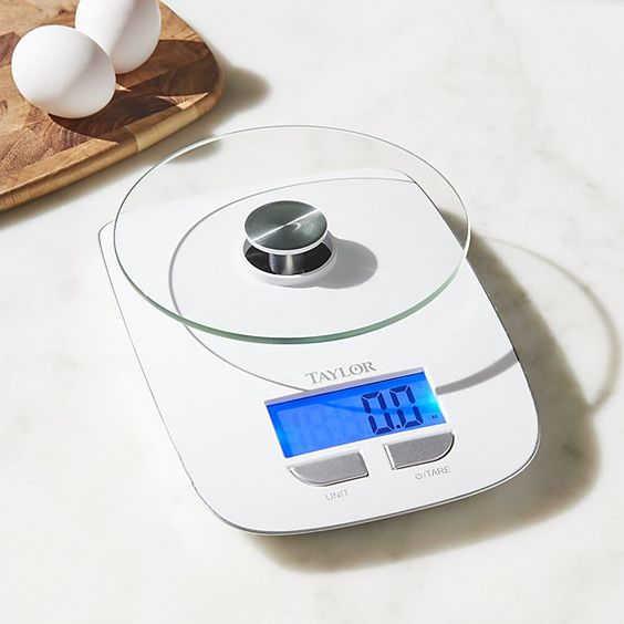 Taylor Glass Platform Digital Kitchen Scale Digital Kitchen Scales Crate And Barrel Kitchen Scale
