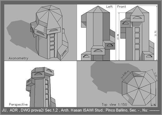 الرسم والاظهار المعماري (Arch. Drawing & Representation ) prova2/final:
