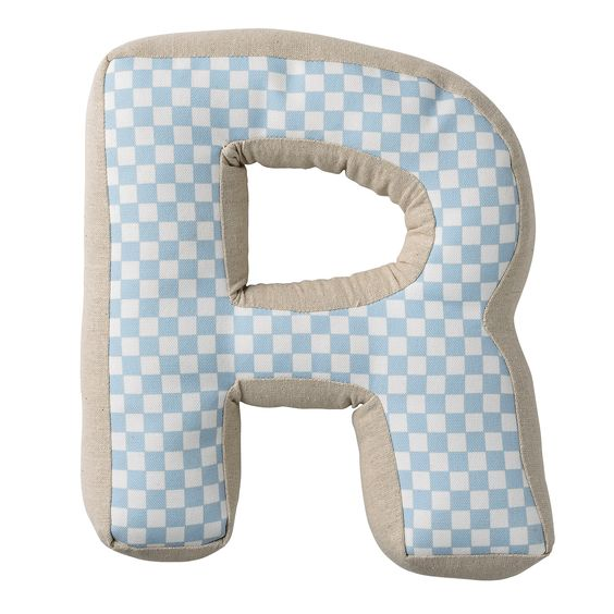 R with Pattern Cotton Throw Pillow