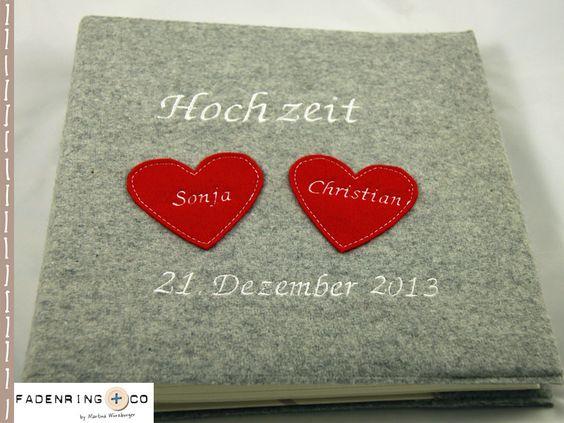 ❤+Fotoalbum+Hochzeitsalbum+Hochzeit+❤+Unser+Tag+❤+von+Fadenring+&+Co+auf+DaWanda.com