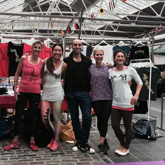 Yay we did it Big thanks to @davetheyogi for running the #108sunsalutations #challenge  @elliebrown44 love you and Caroline so much  always so much fun sweating it out with you guys @fun_yoga_mum well done for organising all the bits and pieces to help us count you rock!