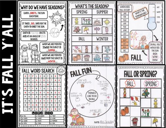 It's FALL Y'all  and a FREEBIE!   Concept 3: Changes in the Earth and Sky  Understand characteristics of weather conditions and climate. PO 1. Identify the following characteristics of seasonal weather patterns:  • temperature  • type of precipitation  • wind  PO 2. Analyze how the weather affects daily activities.