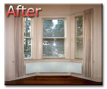 Radiators bay windows and window on pinterest for Bay window designs uk